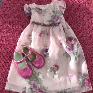 24m girls biscotti Easter dress floral chiffon